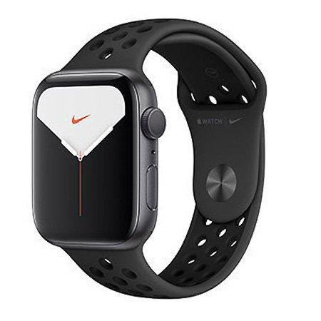 애플워치5 GPS 44mm [스페이스 그레이 알루미늄 케이스, 안트라사이트 / 블랙 Nike 스포츠 밴드] MX3W2KH/A