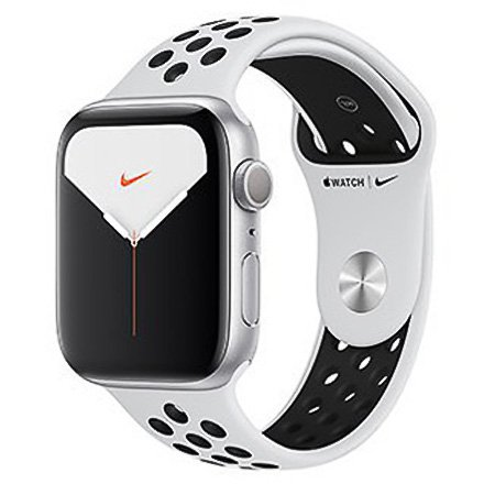 애플워치5 GPS+셀룰러 40mm [실버 알루미늄 케이스, 퓨어 플래티넘 / 블랙 Nike 스포츠 밴드] MX3C2KH/A