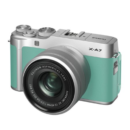 X-A7 미러리스 카메라 렌즈KIT[민트그린][본체+15-45mm]