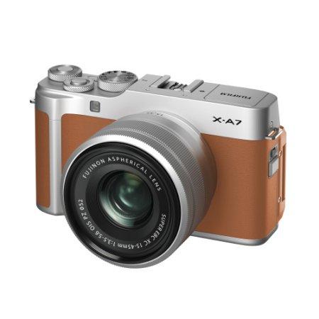 X-A7 미러리스 카메라 렌즈KIT[카멜][본체+15-45mm]