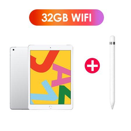 [패키지특가] 필름증정) iPad 7세대 10.2 WIFI 32GB 실버 MW752KH/A  + 1세대 애플펜슬
