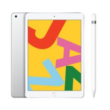 [펜슬패키지] iPad 7세대 10.2 WIFI 128GB 실버 MW782KH/A + 애플펜슬 1세대 MK0C2KH/A