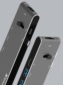 버바팀 듀얼 타입C 리트렉터블 허브 카드리더기 HDMI PD충전