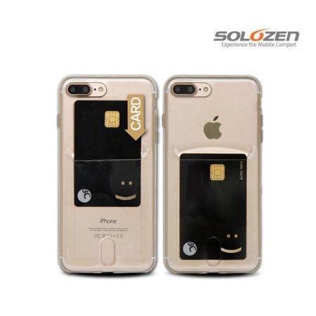 [솔로젠]카드 포켓 투명 케이스 아이폰 11