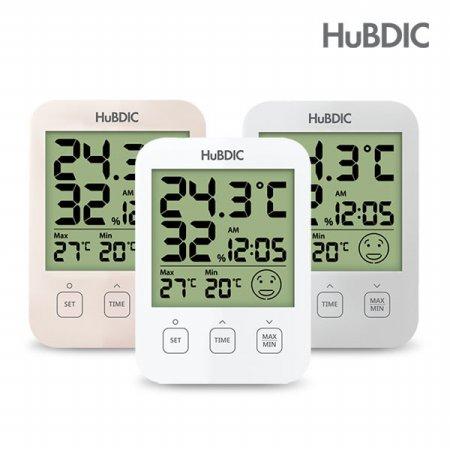 디지털 온습도계 HT-7 시계 아이콘 표시 (화이트/베이지/그레이)
