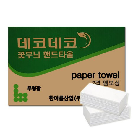 (무료배송) 데코데코 무형광 핸드타올 80매 50밴드
