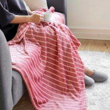 패턴 극세사 담요 대형 (160x200) 세인트 핑크