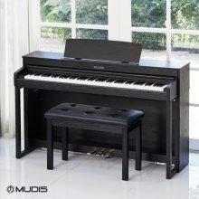 [L.PAY결제 시 1만점][블랙 6/8, 화이트 6/15부터 순차배송][뮤디스]전자 디지털피아노  MF-300+2인용의자 해머액션건반
