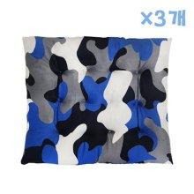 밀리터리 사각방석 (블루) X 3개 솜방석 애견 고양이_5119A4