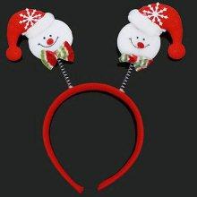 크리스마스 어린이 공연 축제 파티 눈사람 머리띠_4CCC1B