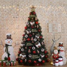 300cm 크리스마스 선물 뉴리얼 솔잎트리 풀세트_4CA61F