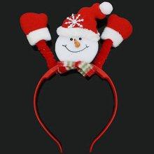 크리스마스 파티 페스티벌 반짝 LED 눈사람 머리띠_4CCC16
