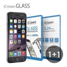 1+1 아이크라운 9H 강화유리필름 아이폰6