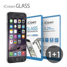1+1 아이크라운 9H 강화유리필름 아이폰11프로 맥스/XS맥스