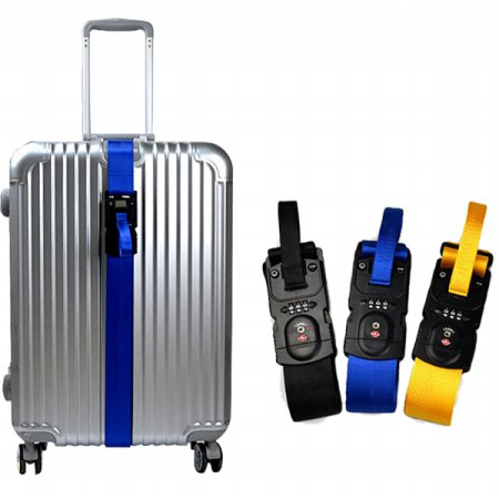 TSA 캐리어 잠금벨트 무게측정 도난방지 자물쇠