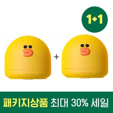 1+1 패키지 할인 라인 프렌즈 미니 가습기 OA-HM037+OA-HM037 (샐리)