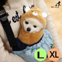 패리스독 캐릭터 웜 가운 담요 베어 (브라운) (L-XL)_4FA405