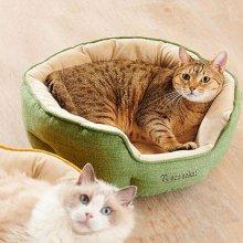 네코세카이 라운드베드 - 모스그린 고양이방석_4C119E