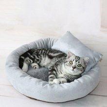 강아지 방석 고양이 집 숨숨 에그 타르트 방석 M_4F8559