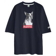 5부티셔츠 오버핏/도그