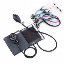 스피릿 메타혈압계 Ck-110+가베간호사청진기 양면 (핑크)