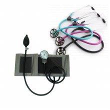 메타혈압계+가베 간호사청진기 양면 (핑크)