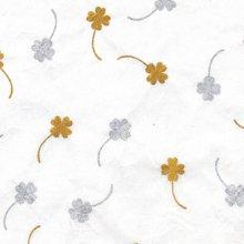 (낱장)한지로 한지 포장지-네잎클로바 13(금,은)