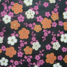 (낱장)한지로 한지 포장지-벚꽃지02번 (검정)