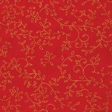 (낱장)한지로 한지 색한지 포장지-담쟁이 03(빨강:금)