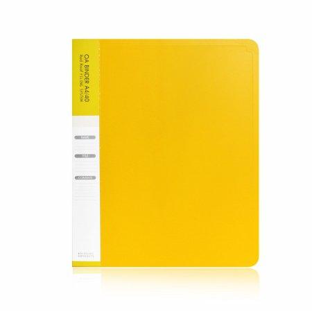 A4 40매 링 클리어화일 노랑(속지추가가능)