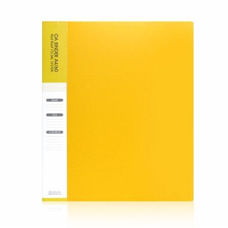 A4 60매 링 클리어화일 노랑(속지추가가능)