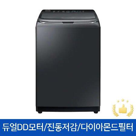 WA18T7650KV 일반세탁기[18KG/듀얼DD모터/4중진동저감/다이아몬드필터/블랙케비어]