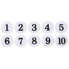 번호판35(에폭시/흰색) 지름35mm 사인물 게시판