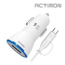 엑티몬 USB 9V 급속 QC 3.0 차량용 충전기(5핀+C타입)