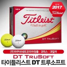 [아쿠쉬네트-정품] 2017 타이틀리스트 NEW DT TRUSOFT (트루소프트) 골프볼/골프공 [2피스/12알/2컬러]