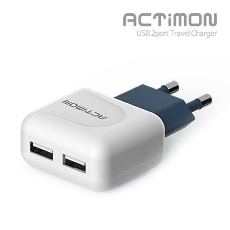 엑티몬 USB 2포트 2.1A 가정용 고속충전기