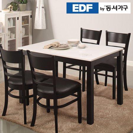 케빈 4인용 하이그로시 식탁테이블(의자미포함) DF629505