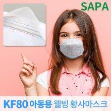 KF80 아동용 소형 마스크 1개 황사 초 미세 먼지 방역