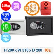 디프로매트 개인/가정/사무용 P101+경보기 안전금고(아이보리
