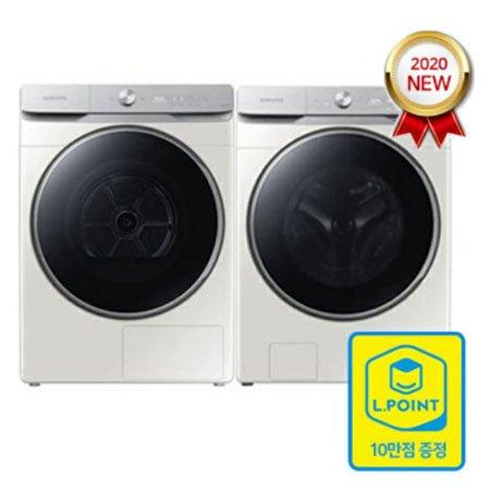 *2020 NEW* 드럼세탁기 23KG WF23T9500KE + 건조기 16KG DV16T9720SE [*병렬설치*][초강력워터샷2개/올인원컨트롤/그레이지]