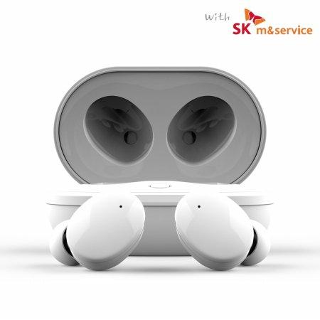 블루투스 무선 이어폰 SK-TWS200 5.0 화이트