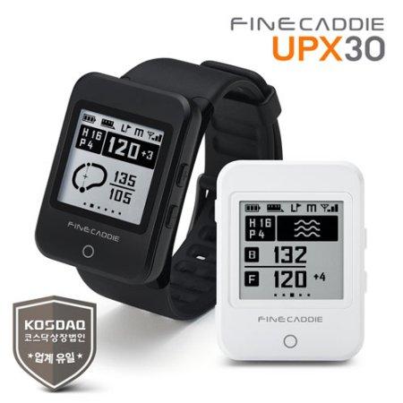 [본사정품] 파인캐디 UPX30 (블랙) 시계형 GPS 골프거리측정기 음성안내 보이스 골프 캐디 항공측량 DB 탑재