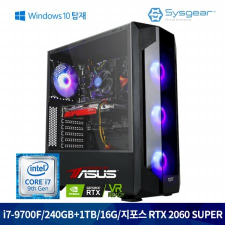 GT762SW i7 9700F+RTX2060SUPER+16G+240G+1TB+윈도우탑재
