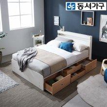 new 루젠 LED 4단서랍 슈퍼싱글침대(9존독립매트리스)