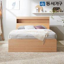 루젠 LED조명 깊은서랍 퀸 침대 프레임 DF636136