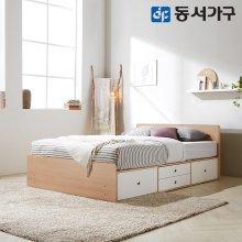 루젠 깊은서랍2단 슈퍼싱글 침대(독립스프링) DF636024