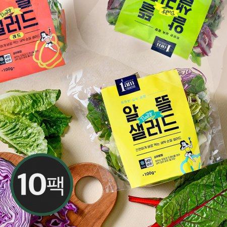 [1am] 알뜰 데일리 샐러드 10팩 구성 / 세척 야채 도시락