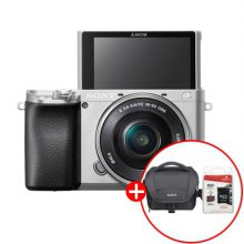 알파 A6100L 미러리스 카메라 렌즈KIT[실버][본체+16-50mm][32G메모리카드+가방증정]