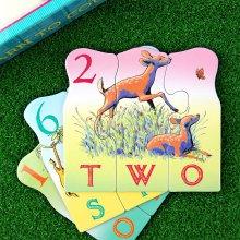 애니멀 카운팅 짝맞추기 퍼즐 /3세이상 동물영어 숫자
