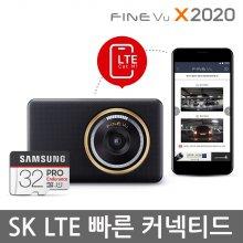 파인뷰 X2020 더빠른 듀얼코어 QHD 2채널블랙박스 커넥티드 32GB
